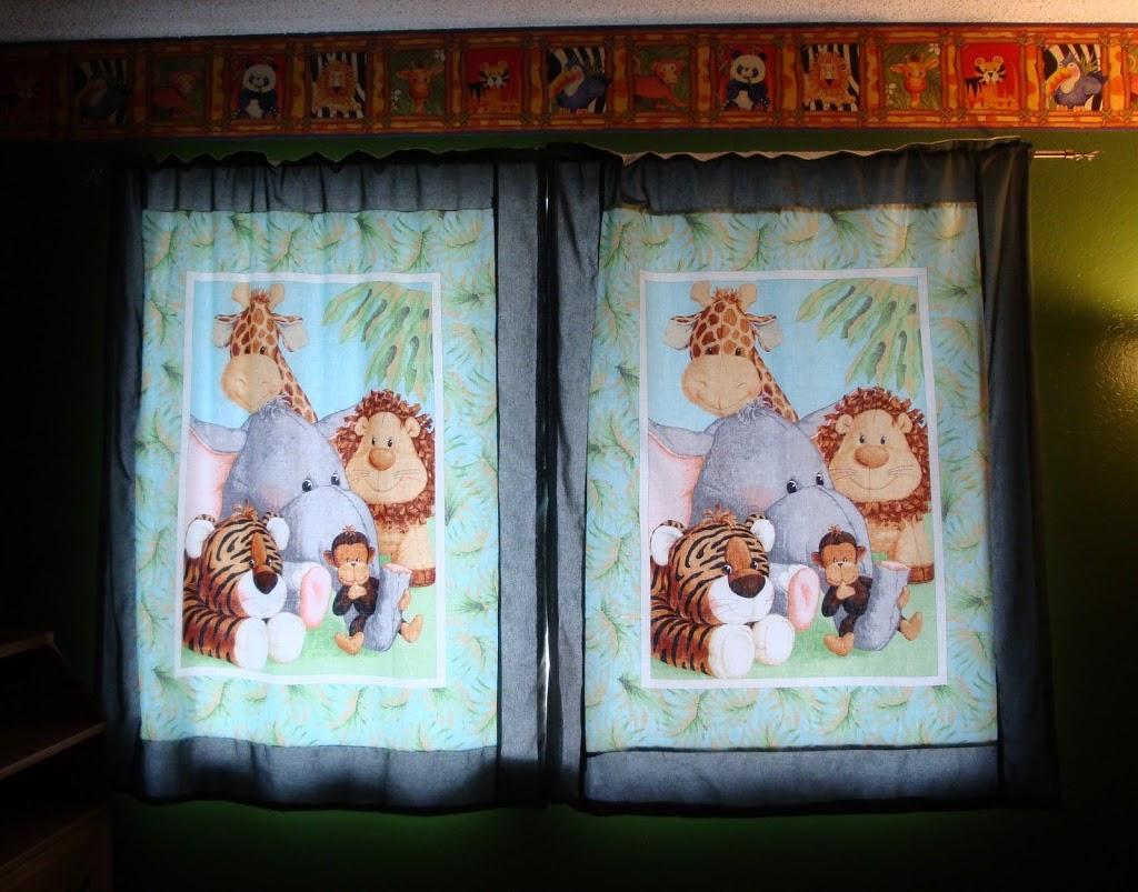 handmade jungle curtains
