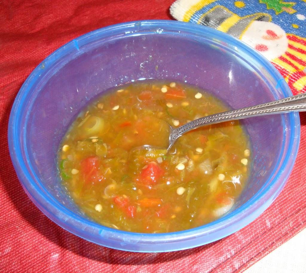 homemade red salsa