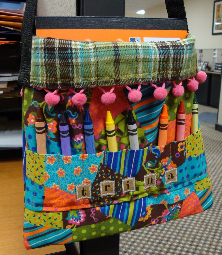 crayon tote bag tutorial for kids