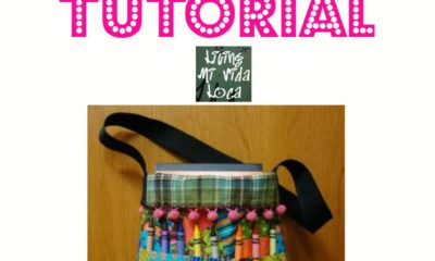 Crayon tote bag tutorial