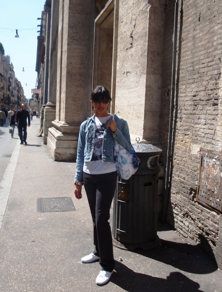 Girl on the streets of Rome