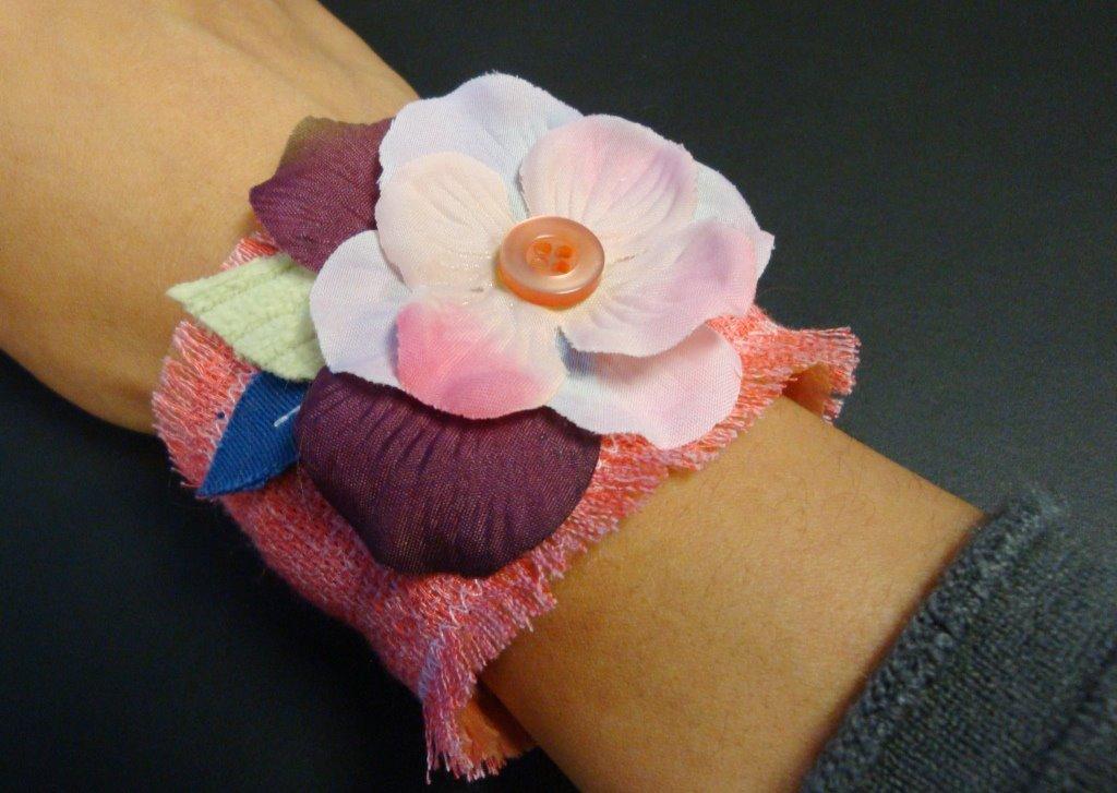 DIY fabric cuff