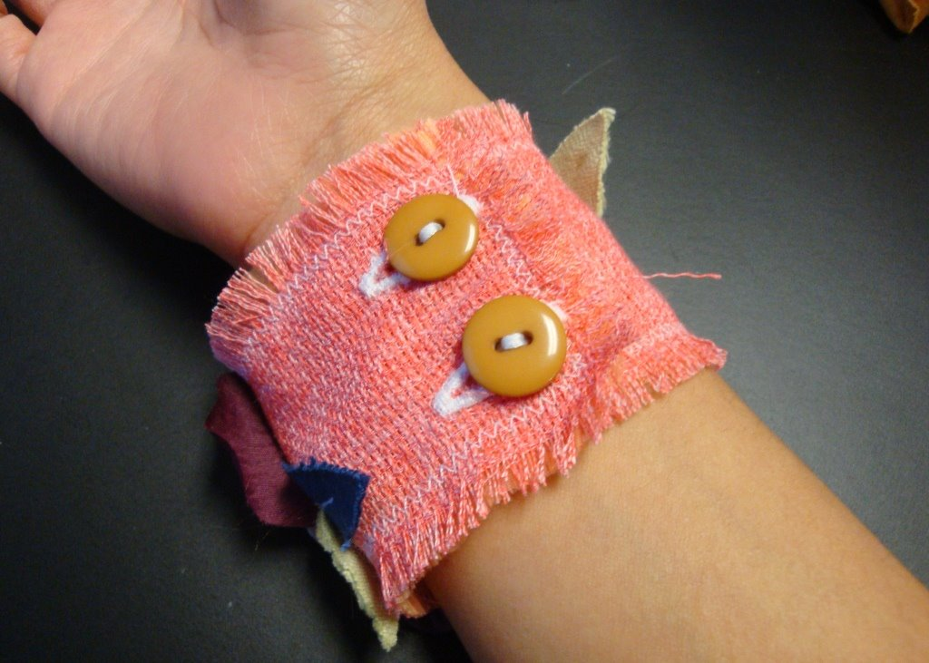 how to make a fabric cuff