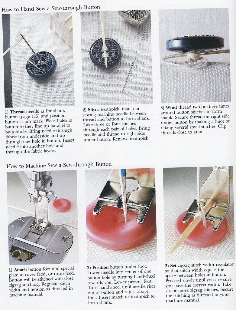 Sew a button with sewing machine