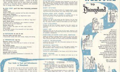 Disneyland Map 1961 // LivingMiVidaLoca.com
