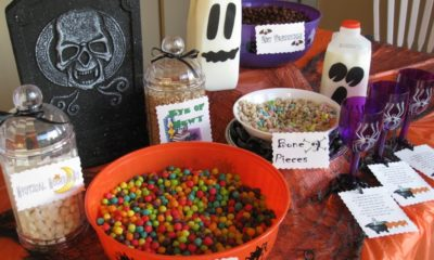 Halloween breakfast buffet