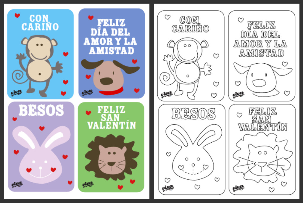 spanish valentine coloring pages - photo#3