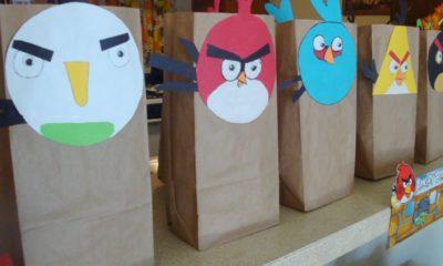 Angry Birds bags // Angry Birds Birthday Party // LivingMiVidaLoca.com