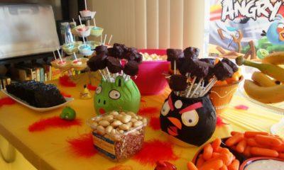 centerpieces // Angry Birds Birthday party // livingmividaloca.com