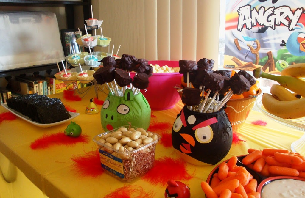 Centerpieces Angry Birds Birthday Party Livingmividaloca