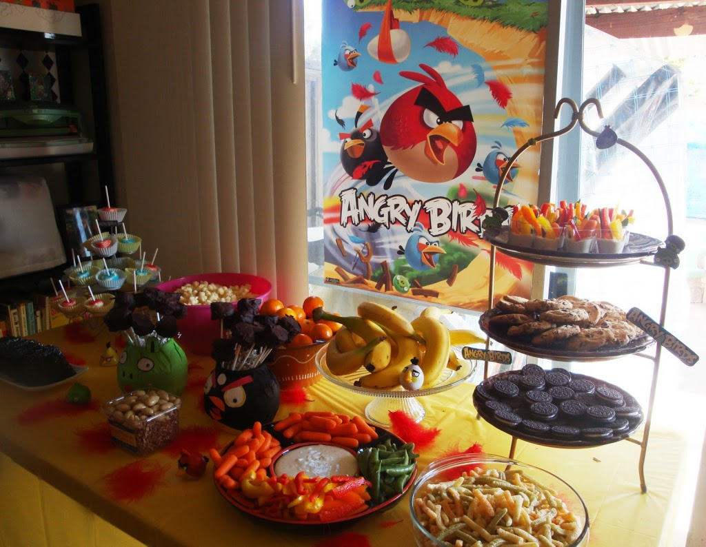 Food Ideas Angry Birds Birthday Party Livingmividaloca