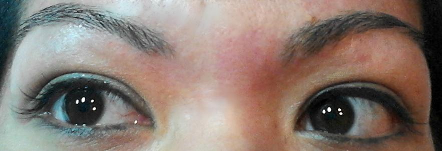 Waxed eyebrows