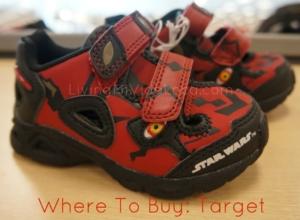 Darth Maul shoes from target -- livingmividaloca.com