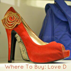 red heel with zipper embellishment -- livingmividaloca.com
