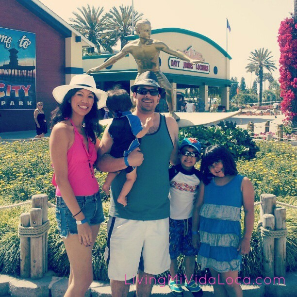Family at Knott's Soak City