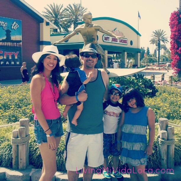Family at Knott's Soak City