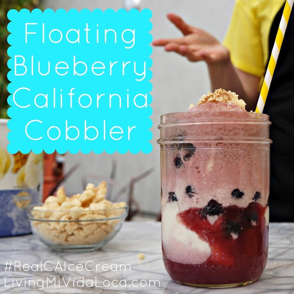 Floating Blueberry California Cobbler