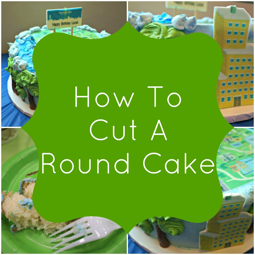 how to cut round cakes