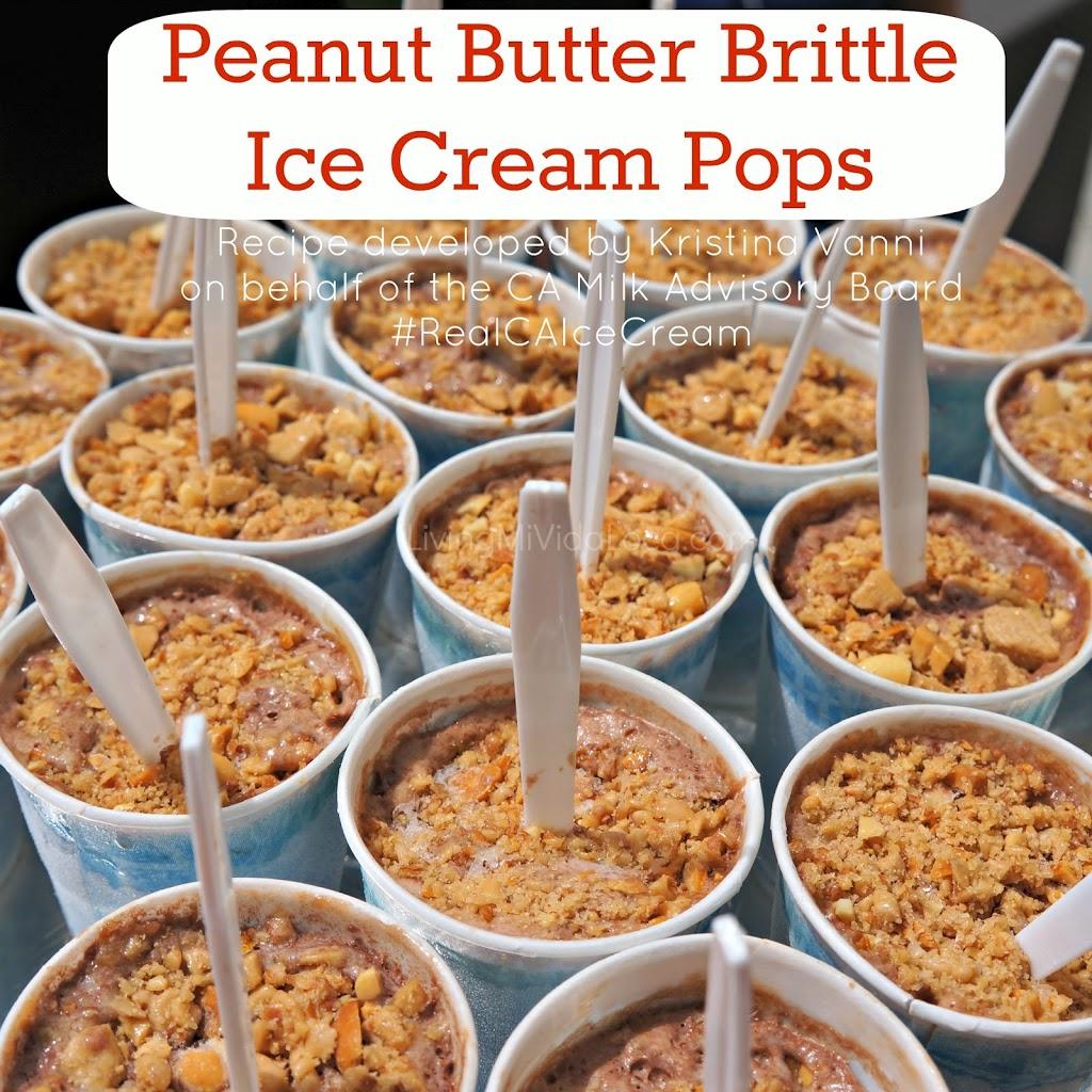 Peanut Butter Brittle Ice Cream Pops