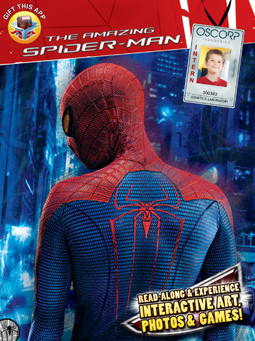 The Amazing Spider-Man Augmented Reality HD Book App for the iPad