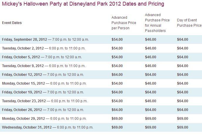 mickeys halloween party at disneyland - Tickets For Disney Halloween Party
