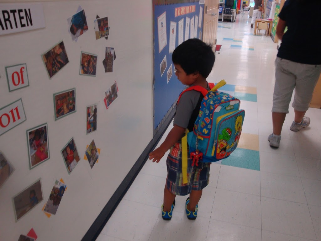 boy in preschool