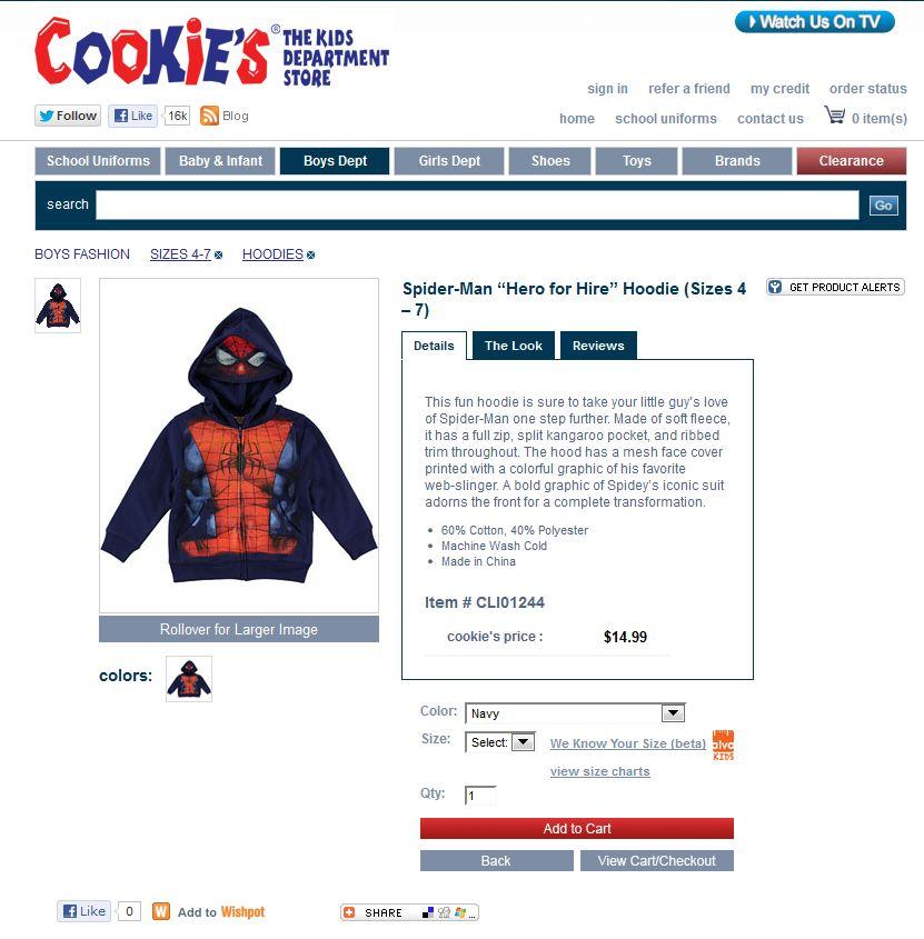 Spiderman sweater