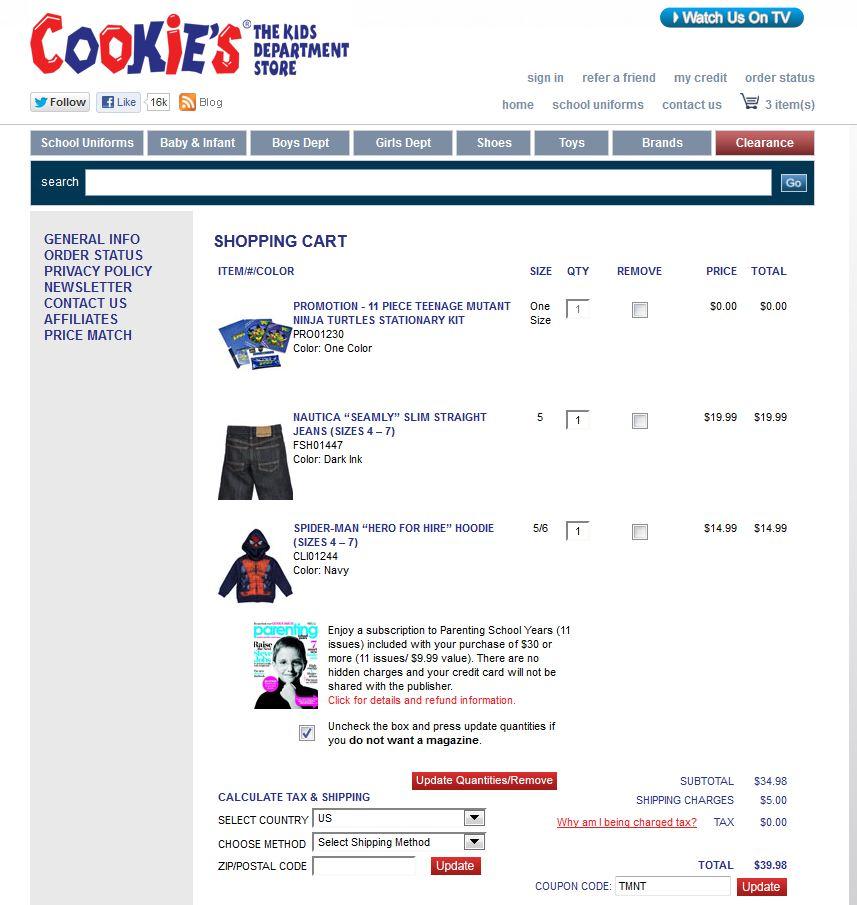 Cookies Kids online order
