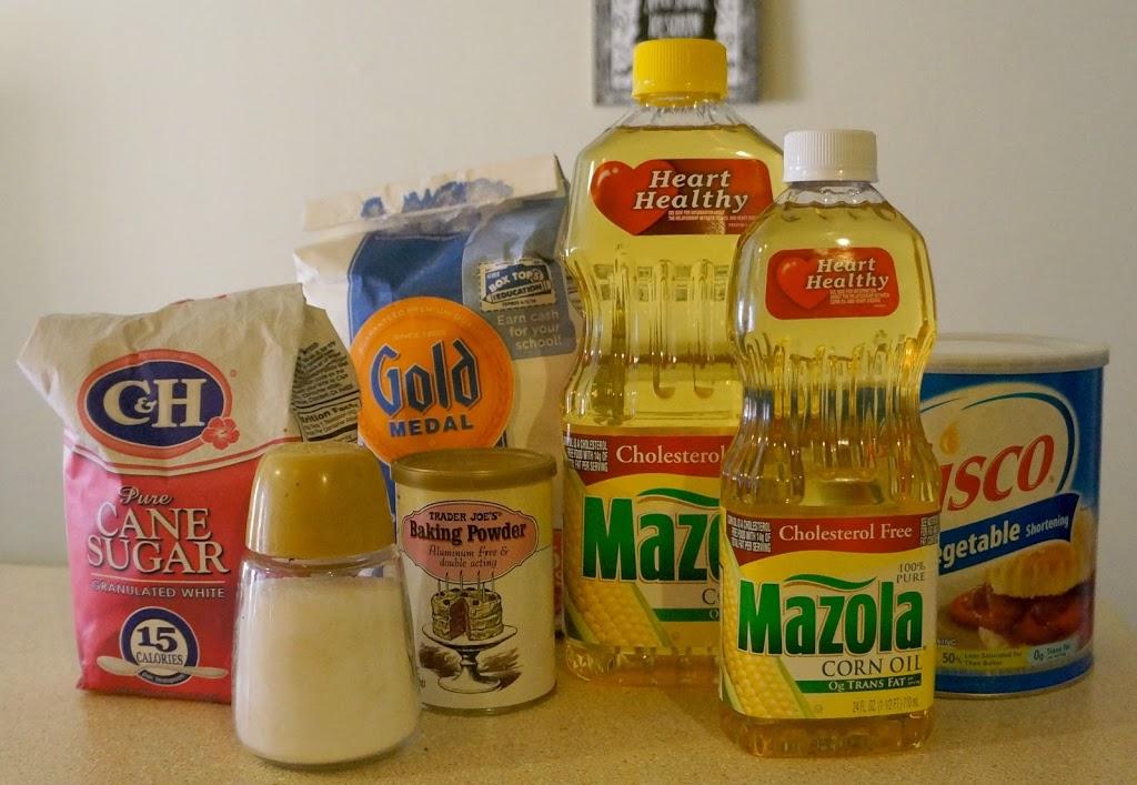 Ingredients for buñuelos