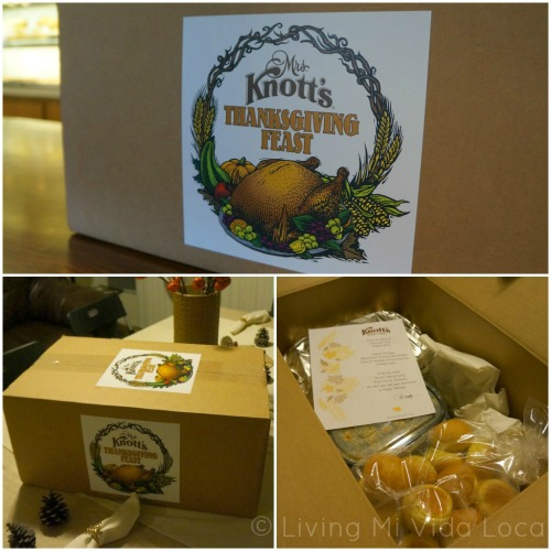 Knott's Thanksgiving dinner meal from Mrs. Knott's Chicken Dinner Restaurant