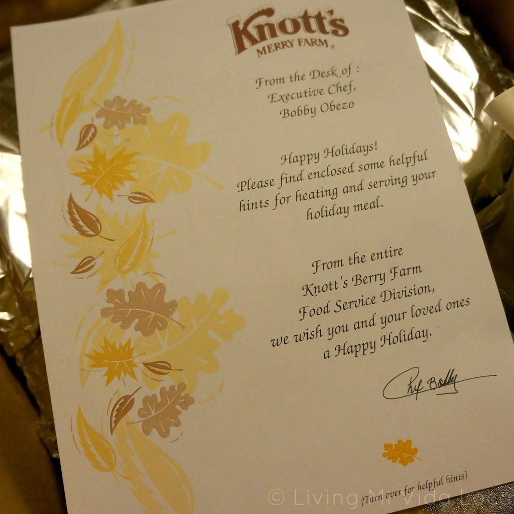 Knott's meals