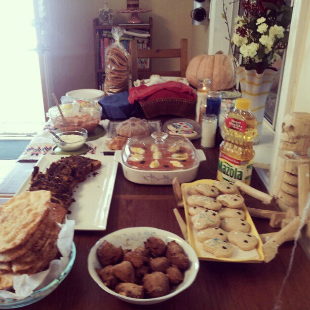 Day of the Dead buffet table