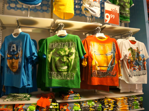 Avengers tshirts at The Children's Place