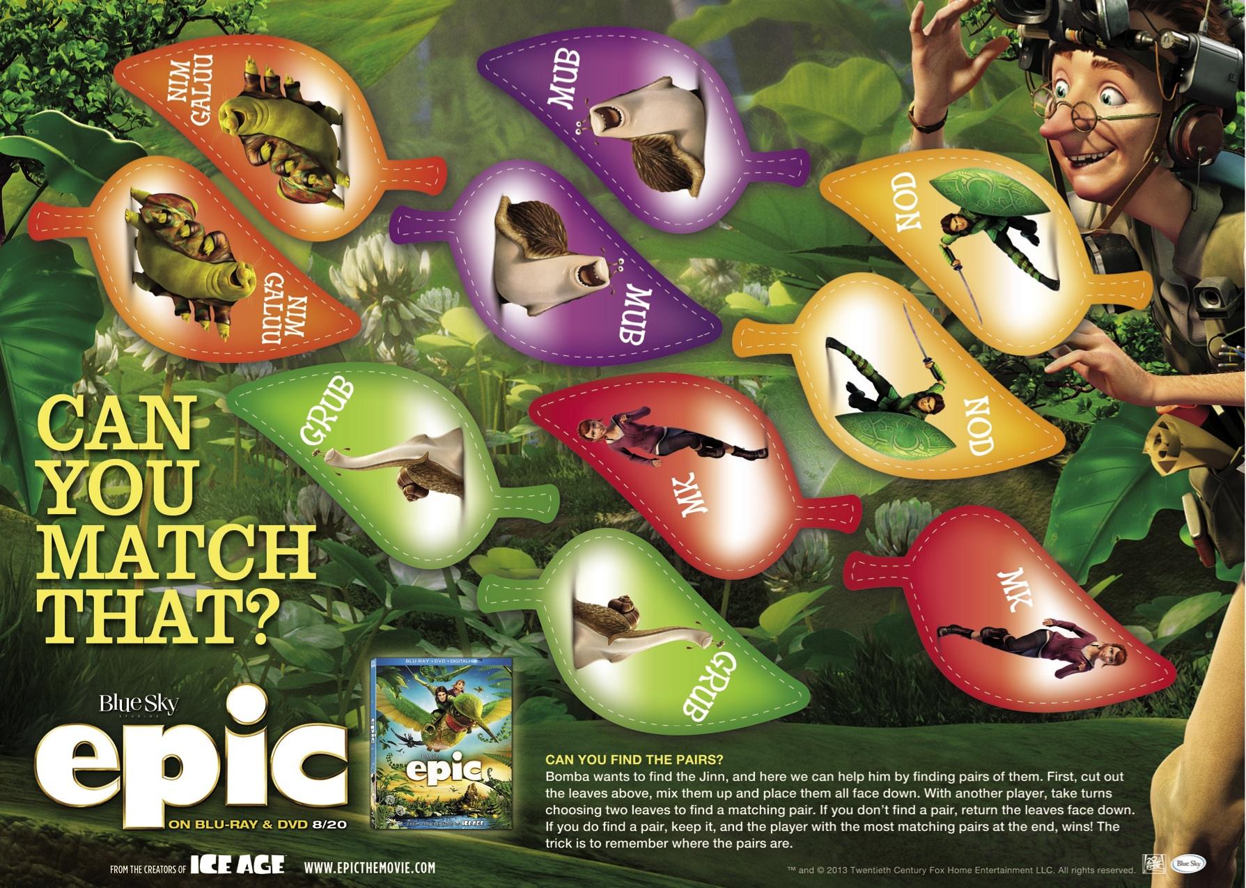 epic movie matching game