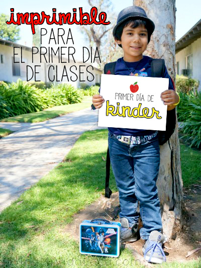 Back to school printable in Spanish