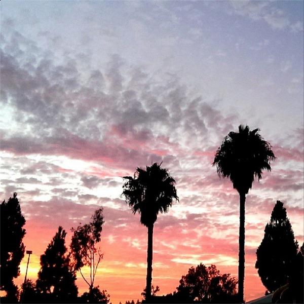 Southern California sunset // LivingMiVidaLoca.com