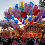 Disneyland balloons on Main Street