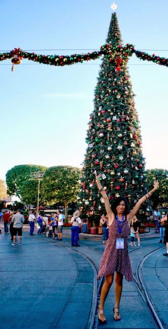 Christmas tree at Disneyland