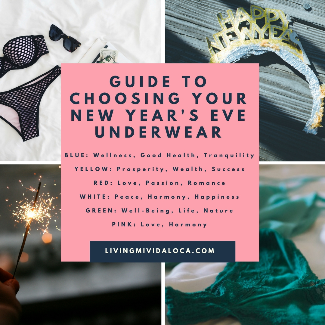 Guide to choosing your New Year's Eve underwear - LivingMiVidaLoca.com