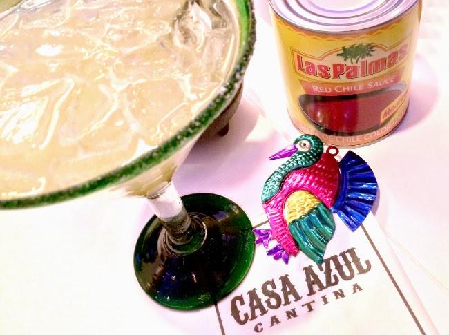 cocktail with casa azul cantina and other recipes using Las Palmas Red Chile Sauce - livingmividaloca.com - #LivingMiVidaLoca #MexicanFood #MexicanRecipes