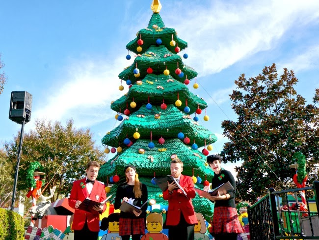 legoland carolers at LEGOLAND California during LEGOLAND Snow Days