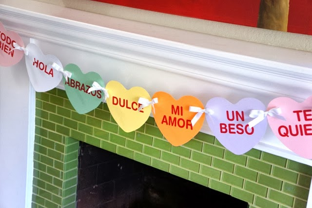 imprimible para el dia de san valentin. Valentine's Day banner in Spanish - LivingMiVidaLoca.com - #LivingMiVidaLoca #ValentinesDayBanner #DiadeSanValentin
