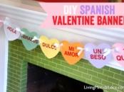Free DIY Valentine's Day Banner in Spanish
