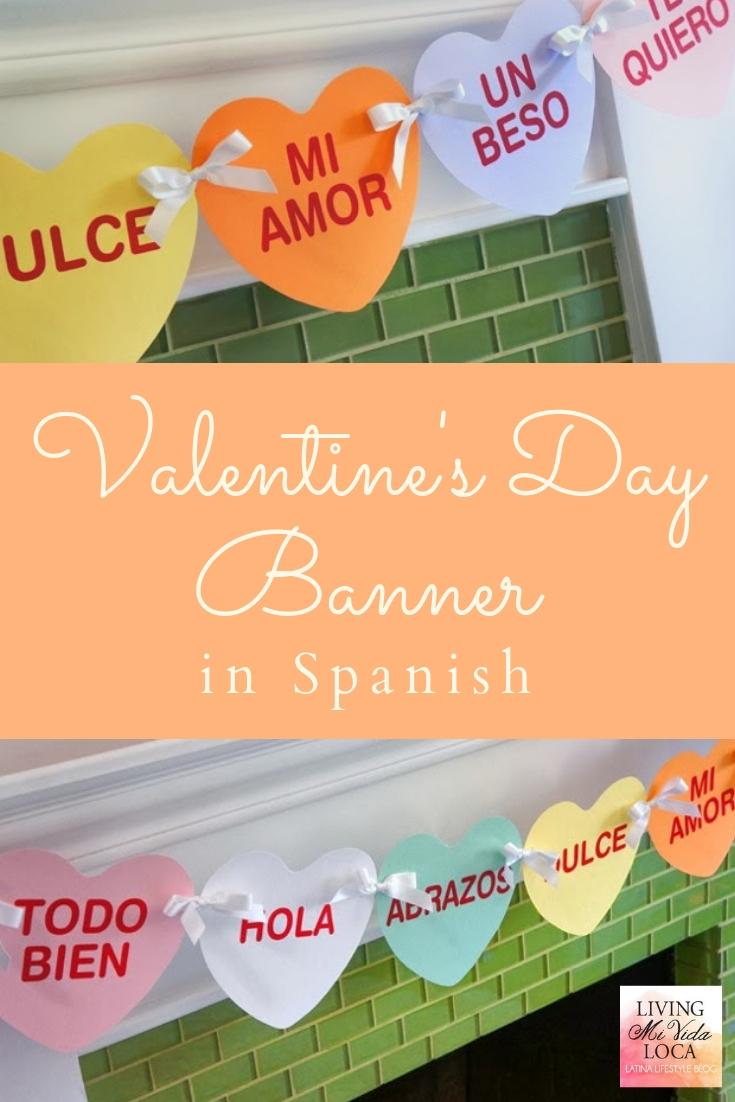 Valentine's Day banner in Spanish - livingmividaloca.com - #LivingMiVidaLoca #ValentinesDay #DiadeSanValentin