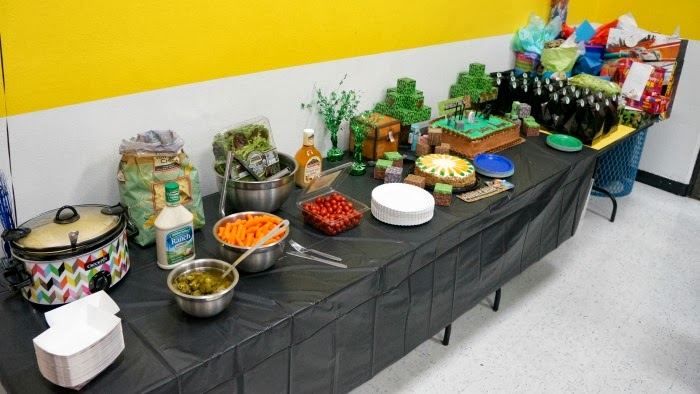 food to serve at minecraft party | livingmividaloca.com