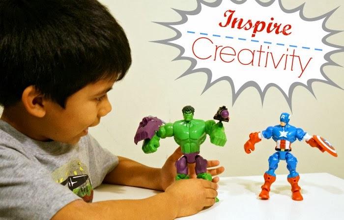 How to inspire creativity using Marvel Super Hero Mashers | LivingMiVidaLoca.com #MiMashup