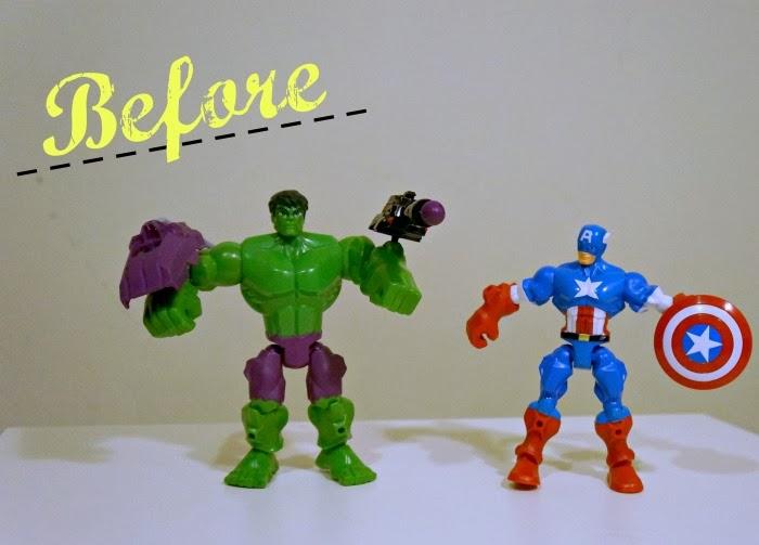 Marvel Super Hero Mashers Hulk and Captain America | LivingMiVidaLoca.com #MiMashup