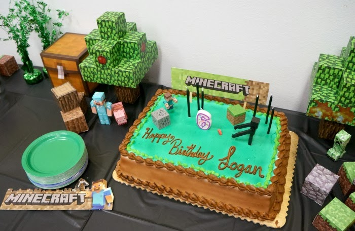 how to make a minecraft birthday cake | livingmividaloca.com