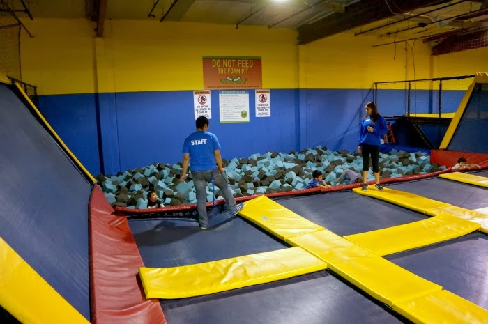 Foam pit at Sky High Sports in Costa Mesa in Orange County | LivingMiVidaLoca.com