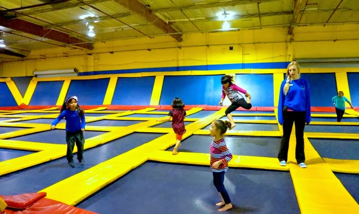 girl jumpers at Sky High Sports in Costa Mesa | LivingMiVidaLoca.com
